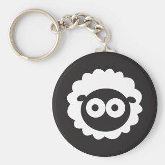 Squishy Sheep Basic Round Button Keychain