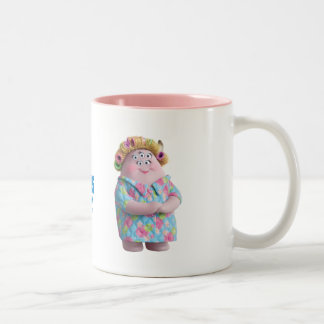 Squishy's Mom 1 Two-Tone Coffee Mug