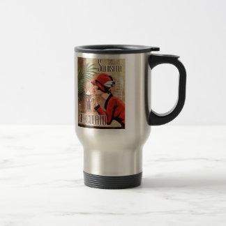 Squisito Cioccolato Italian Chocolate Woman in Red 15 Oz Stainless Steel Travel Mug