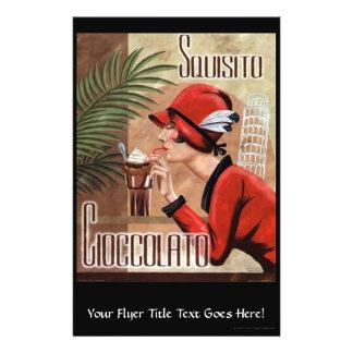"""Squisito Cioccolato Italian Chocolate Woman in Red 5.5"""" X 8.5"""" Flyer"""