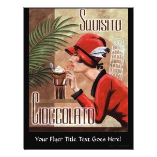 """Squisito Cioccolato Italian Chocolate Woman in Red 8.5"""" X 11"""" Flyer"""