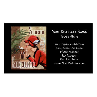 Squisito Cioccolato Italian Chocolate Woman in Red Double-Sided Standard Business Cards (Pack Of 100)