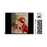 Squisito Cioccolato Italian Chocolate Woman in Red Postage Stamp