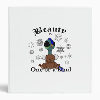 Squite Beauty is one of a kind with snowflakes 3 Ring Binder
