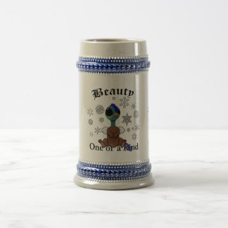 Squite Beauty is one of a kind with snowflakes Beer Stein