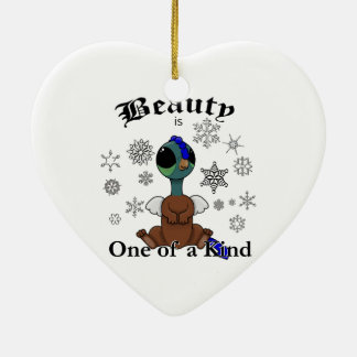 Squite Beauty is one of a kind with snowflakes Ceramic Ornament