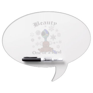 Squite Beauty is one of a kind with snowflakes Dry Erase Board