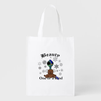 Squite Beauty is one of a kind with snowflakes Grocery Bag