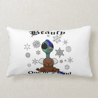 Squite Beauty is one of a kind with snowflakes Lumbar Pillow