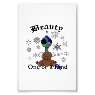 Squite Beauty is one of a kind with snowflakes Photo Print