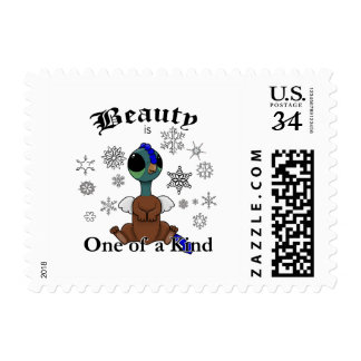 Squite Beauty is one of a kind with snowflakes Postage