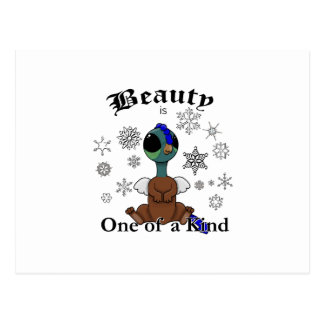 Squite Beauty is one of a kind with snowflakes Postcard