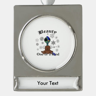 Squite Beauty is one of a kind with snowflakes Silver Plated Banner Ornament