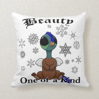 Squite Beauty is one of a kind with snowflakes Throw Pillow