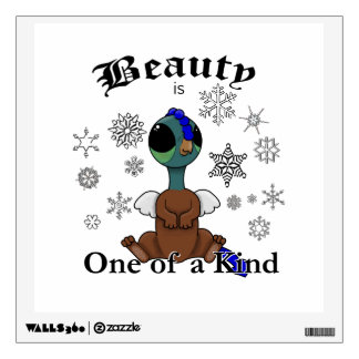 Squite Beauty is one of a kind with snowflakes Wall Decal
