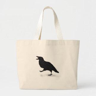 Sqwarking Crow Bags