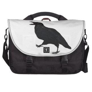 Sqwarking Crow Laptop Messenger Bag
