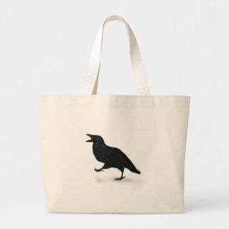 Sqwarking Crow Large Tote Bag