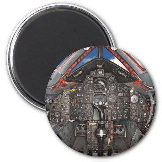 SR71 Blackbird Aircraft Cockpit 2 Inch Round Magnet
