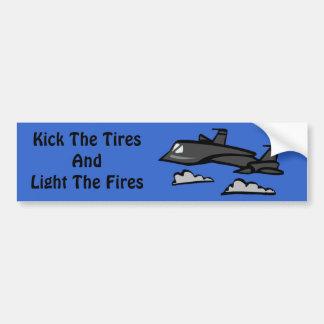 SR71 Blackbird Recon Plane Flying In Clouds Bumper Stickers