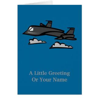 SR71 Blackbird Recon Plane Flying In Clouds Card