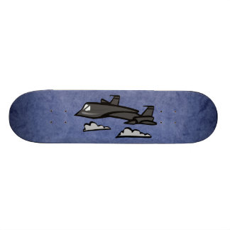 SR71 Blackbird Recon Plane Flying In Clouds Skateboard