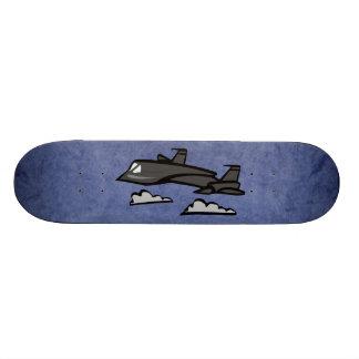 SR71 Blackbird Recon Plane Flying In Clouds Skateboard Decks
