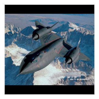 SR-71 BLACKBIRD AIRPLANE AVIATION Glossy Poster