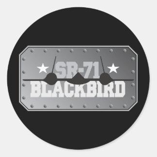 SR-71 Blackbird Classic Round Sticker
