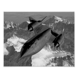 SR-71 Blackbird Flying Poster