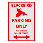 SR-71 Blackbird Parking Only Sign Poster