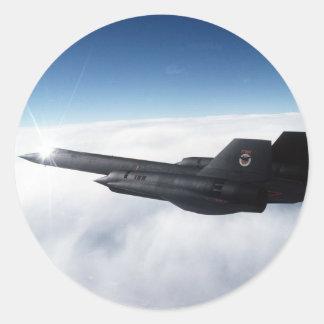 SR-71 Blackbird Round Sticker