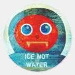 """¡Sr. Abominable Says, """"mi hielo está derritiendo Pegatina Redonda"""