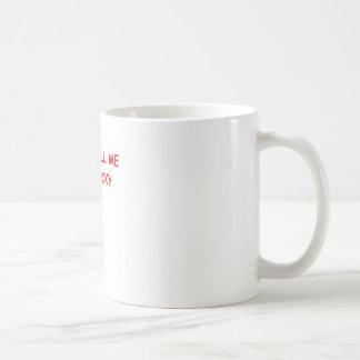 Sr. afortunado taza básica blanca