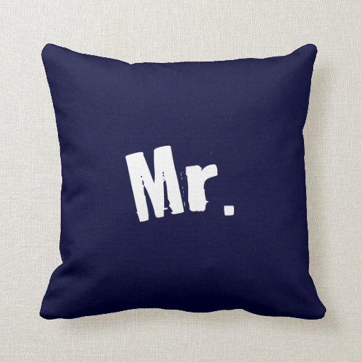 Sr. almohada de los azules marinos