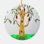 Sr. Appletree Christmas Ornament Adorno Redondo De Cerámica