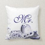 Sr. artístico simple Pillow de los Seashells de lo