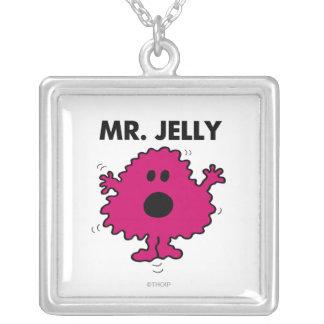 Sr. asustado y nervioso Jelly Colgante Cuadrado