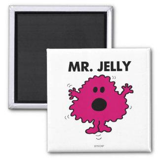 Sr. asustado y nervioso Jelly Imán Cuadrado