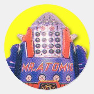 Sr. Atomic Robot Stickers (hoja de 20) Pegatina Redonda
