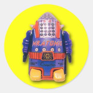 Sr. Atomic Robot Stickers (hoja de 6) Pegatina Redonda