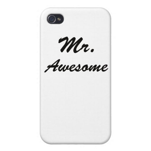 Sr. Awesome iPhone 4/4S Carcasa