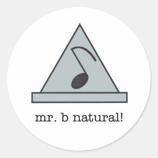 ¡Sr. b natural! pegatina
