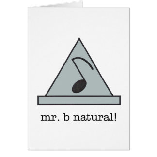 ¡Sr. b natural! tarjeta de nota