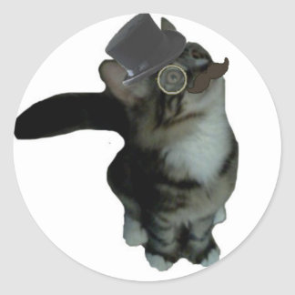 Sr. Biffles Stickers - blanco Pegatina Redonda