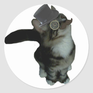 Sr. Biffles Stickers - blanco