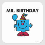Sr. Birthday Classic Pegatinas Cuadradases