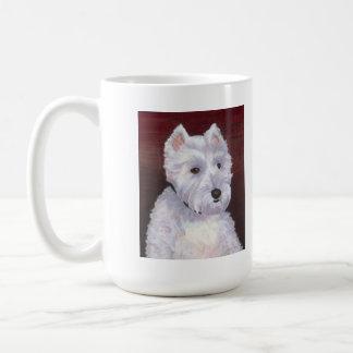 Sr Bob taza blanca del perrito