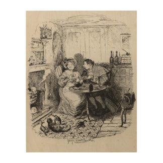 Sr. Bumble y señora Corney que toma té Cuadro De Madera