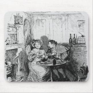 Sr. Bumble y señora Corney que toma té Tapete De Ratones